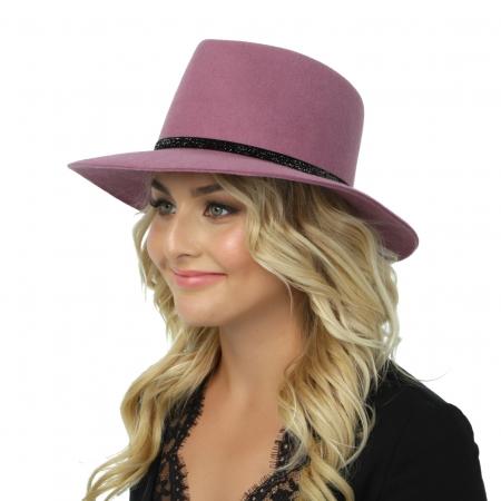 Шляпа фетровая 157-БАРХАТ